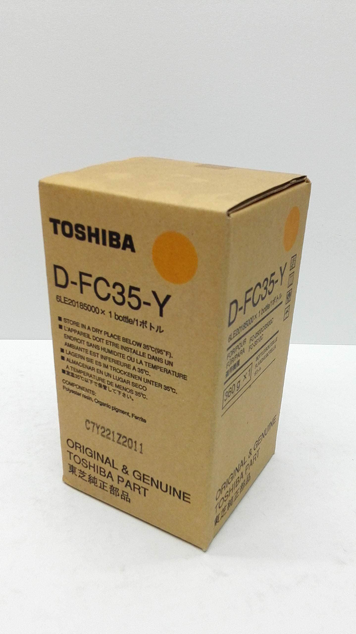 Toshiba D-FC35-Y Yellow Developer for use in the e-Studio 2500c, 3500c, 3510c series DFC35Y by Toshiba by Toshiba