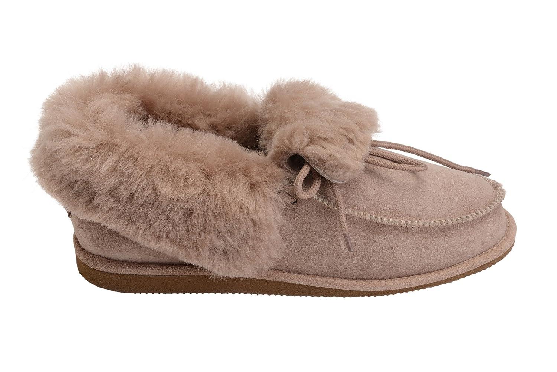 Vogar W76 Hommes Femmes Luxe Chaud Peau Femmes de Mouton Pantoufles Chaussures Chaussons avec Doublure Chaud Laine W76 Beige f9bba02 - boatplans.space
