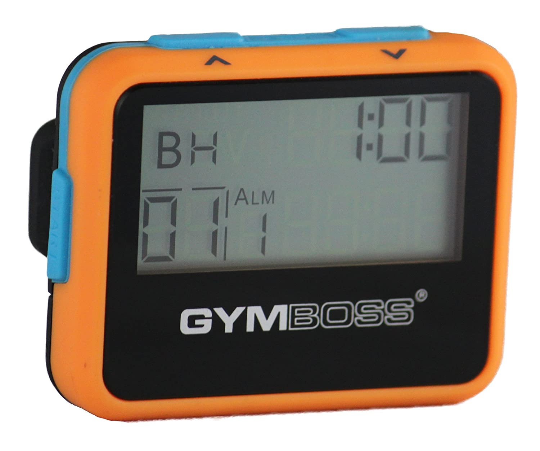 Gymboss - Cronómetro y temporizador de intervalos, color naranja y azul ORANGBU