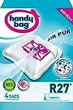 Handy Bag - R27 - 4 Sacs Aspirateurs, pour Aspirateurs Rowenta, Fermeture Hermétique, Filtre Anti-Allergène, Filtre Moteur