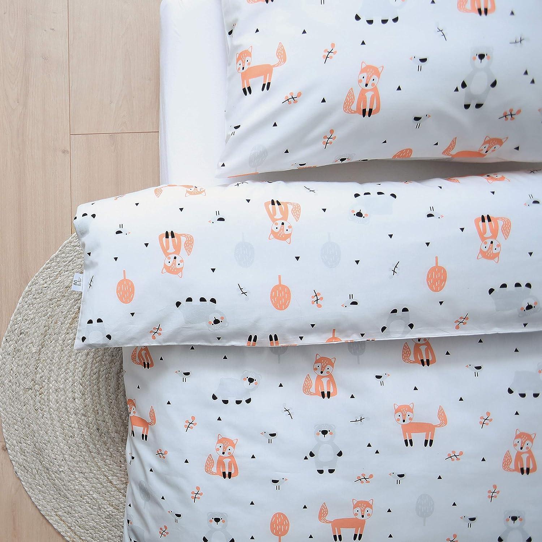 120 x 150 cm 100 /% Bio-Baumwolle Littlefeifei Bettw/äsche-Set f/ür Kinderbett