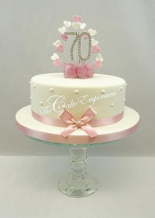 Kuchen Dekoration Kuchen Topper Herz Burst Spray Mit 70 Geburtstag