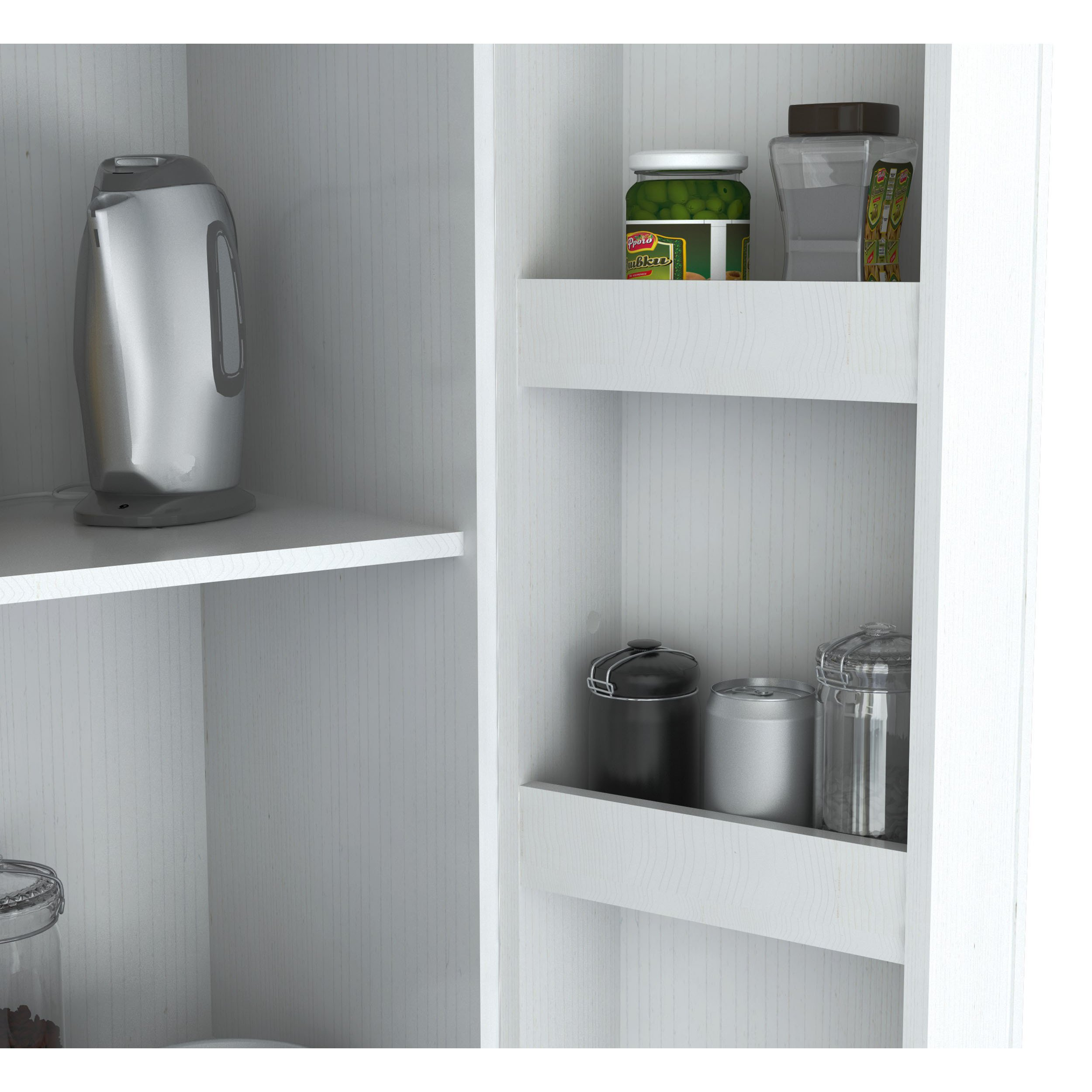 Inval Laricina White Kitchen Storage Cabinet by (Inval America LLC)