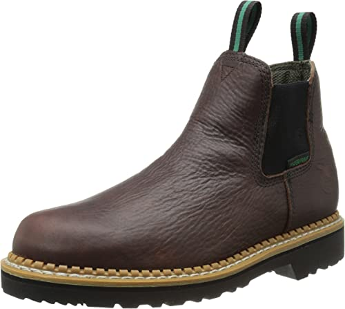 Georgia Mens Soft Toe Romeo Boots,Brown,8 W