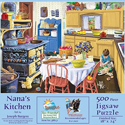 SUNSOUT INC Nana's Kitchen 500 pc Jigsaw Puzzle: Toys & Games