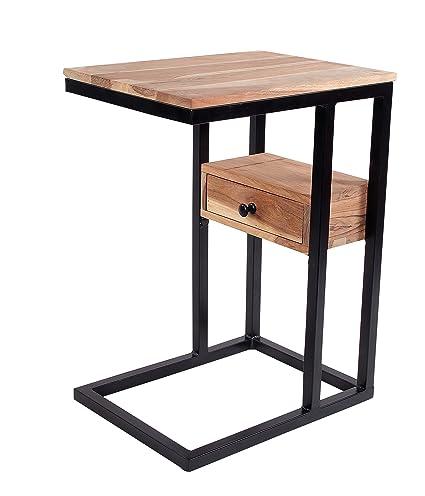 Amazon Com Intradeglobal Sofa Side Acacia Wood End Table With
