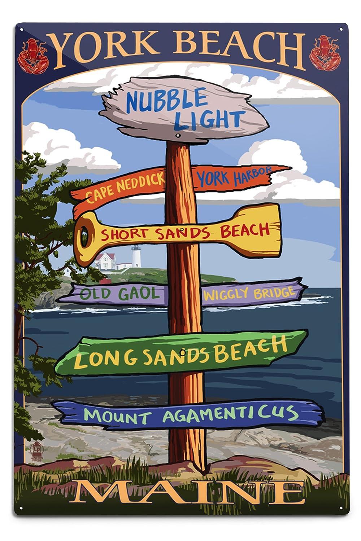 オープニング 大放出セール Yorkビーチ、メイン州 – Sign Sign Destinations 15oz Mug 18 LANT-3P-15OZ-WHT-33423 B06Y1HLYGZ x 12 x 18 Metal Sign 12 x 18 Metal Sign, 鹿町町:dd13853b --- vezam.lt