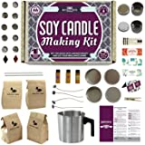 Soy Candle Making Kit for Adults and Teens (49-Piece Set) Easy to Make Essential Oil Scented Wax Candles