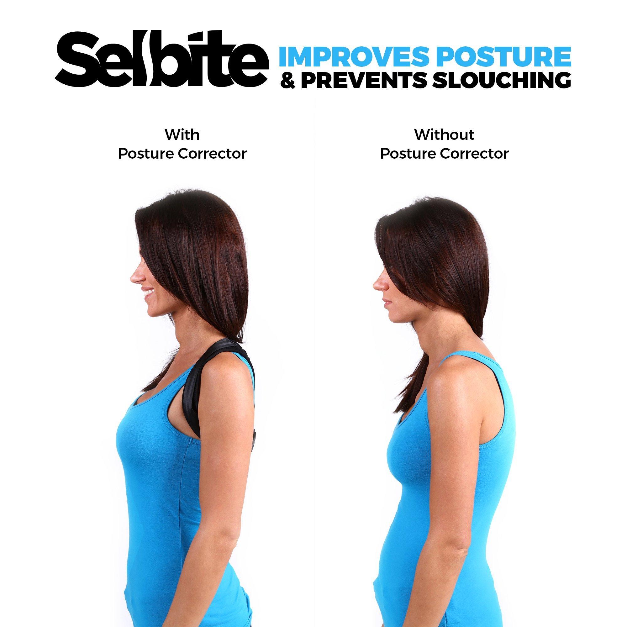 Back Posture Corrector for Men Women - Effective Posture Corrector Upper Back Straightener - Adjustable Posture Brace - Back Brace - Lightweight and Comfortable for Improving Posture by Selbite (Image #1)