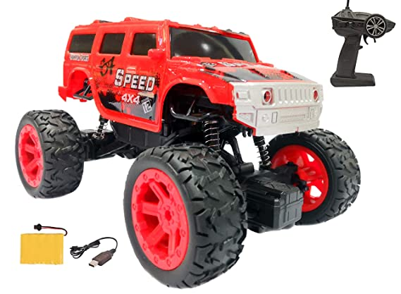 Popsugar 1:20 Off Roader Rock Climbing Rechargeable Truck with Remote Control Toy for Kids | Drive on Sandy, Rocky, Grassland, Red