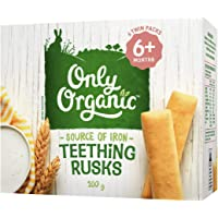 Only Organic Teething Rusks 6+ Months - 100g