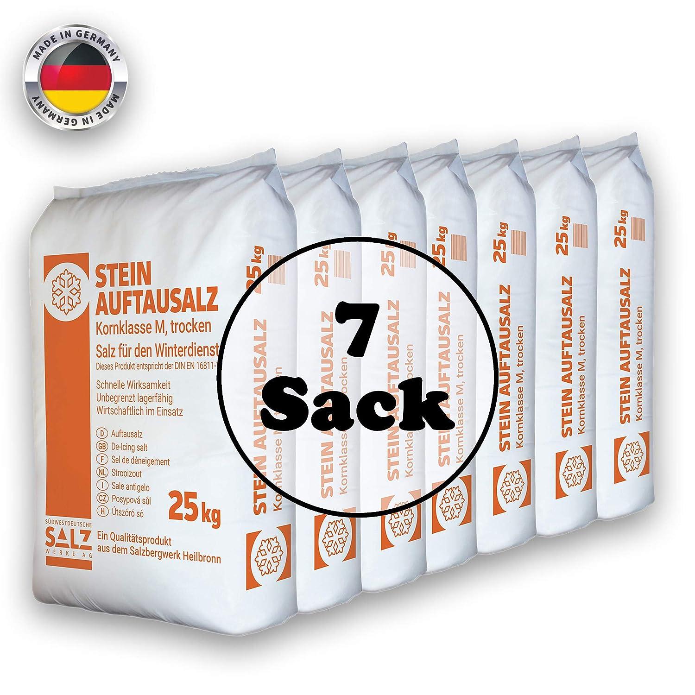 Stein Auftausalz 125kg Streumittel Streusalz Schnee Winter Eis Frost Premium 25-250 kg Südwestdeutsche Salzwerke AG