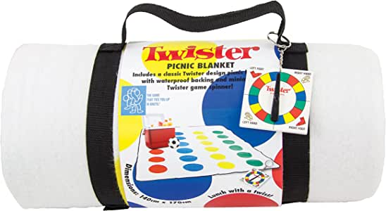TWISTER - Manta de Picnic, diseño de Juego Twister: Amazon.es: Jardín