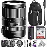 Tamron 16-300mm f/3.5-6.3 Di II VC PZD Macro Lens for CANON DSLR Cameras w/ Advanced Photo and Travel Bundle