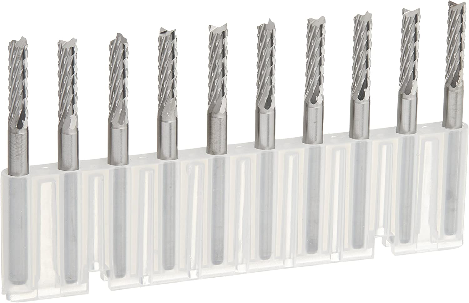 Kent 10 Mixed Sizes Fishtail Carbide Router End Mills and Engraving Burrs