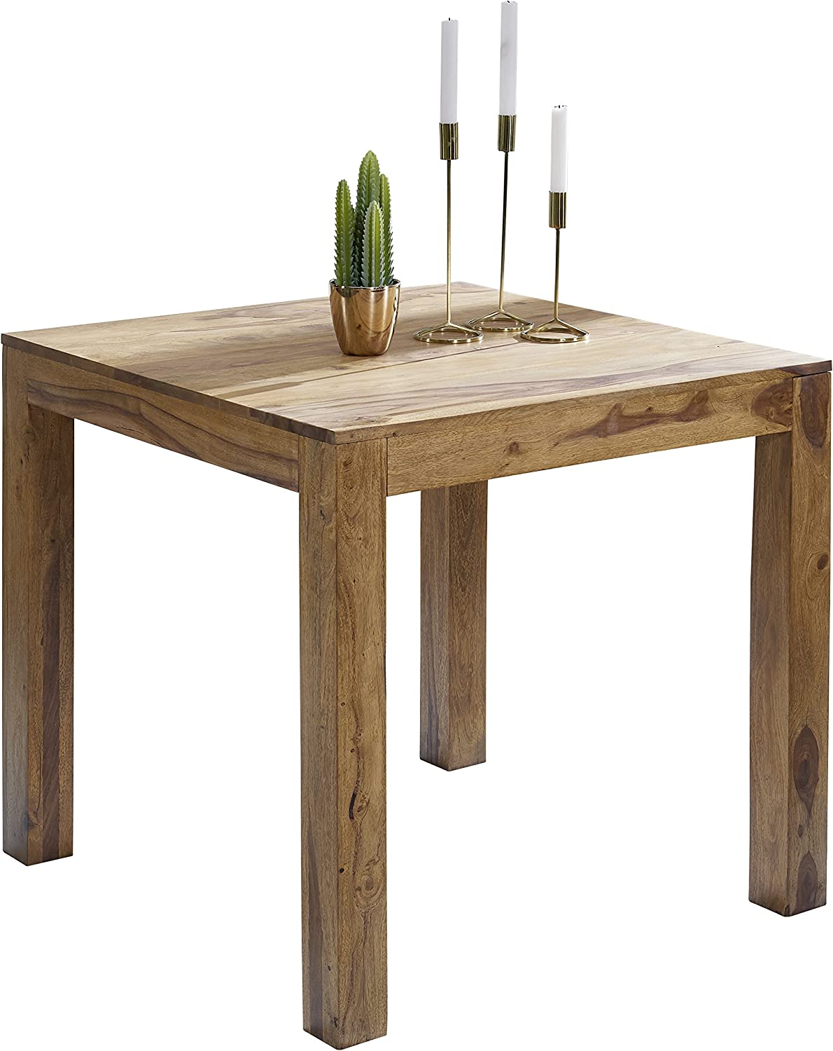 Wohnling Wl1 319 Square Sheesham Solid Wood Dining Table 80 X 80 Cm Amazon Co Uk Kitchen Home