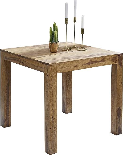Wohnling WL1.319 mesa cuadrada de madera maciza sheesham, 80 x 80 ...
