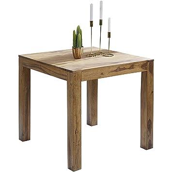 Wohnling Esstisch MUMBAI Massivholz Sheesham 80 X 80 X 76 Cm Esszimmer Tisch  Design Küchentisch