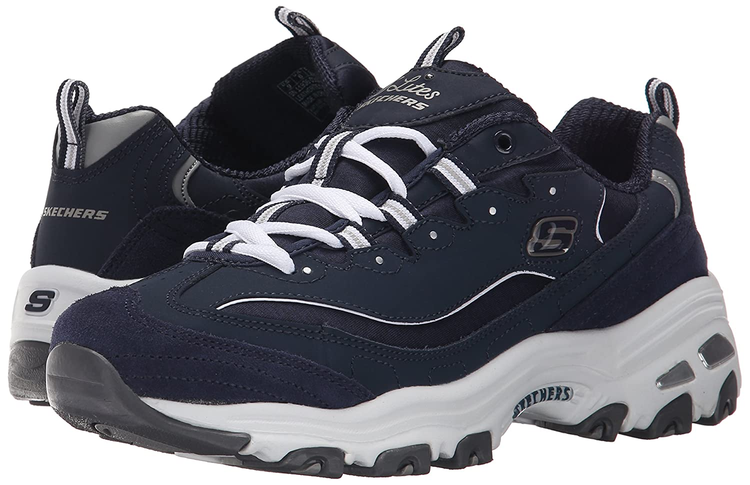 Skechers-D-039-Lites-Women-039-s-Casual-Lightweight-Fashion-Sneakers-Athletic-Shoes thumbnail 132
