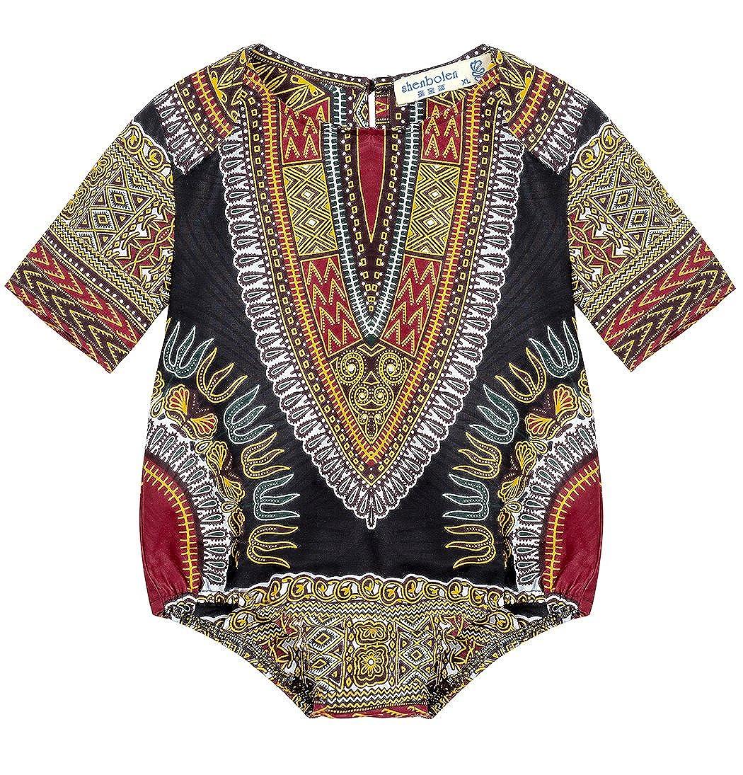 Shenbolen Kids African Dashiki Print Jumpsuits Piece Pants Clothing