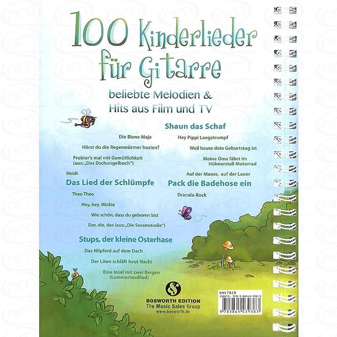 100 Kinderlieder Fuer Gitarre Arrangiert Fur Gitarre Noten