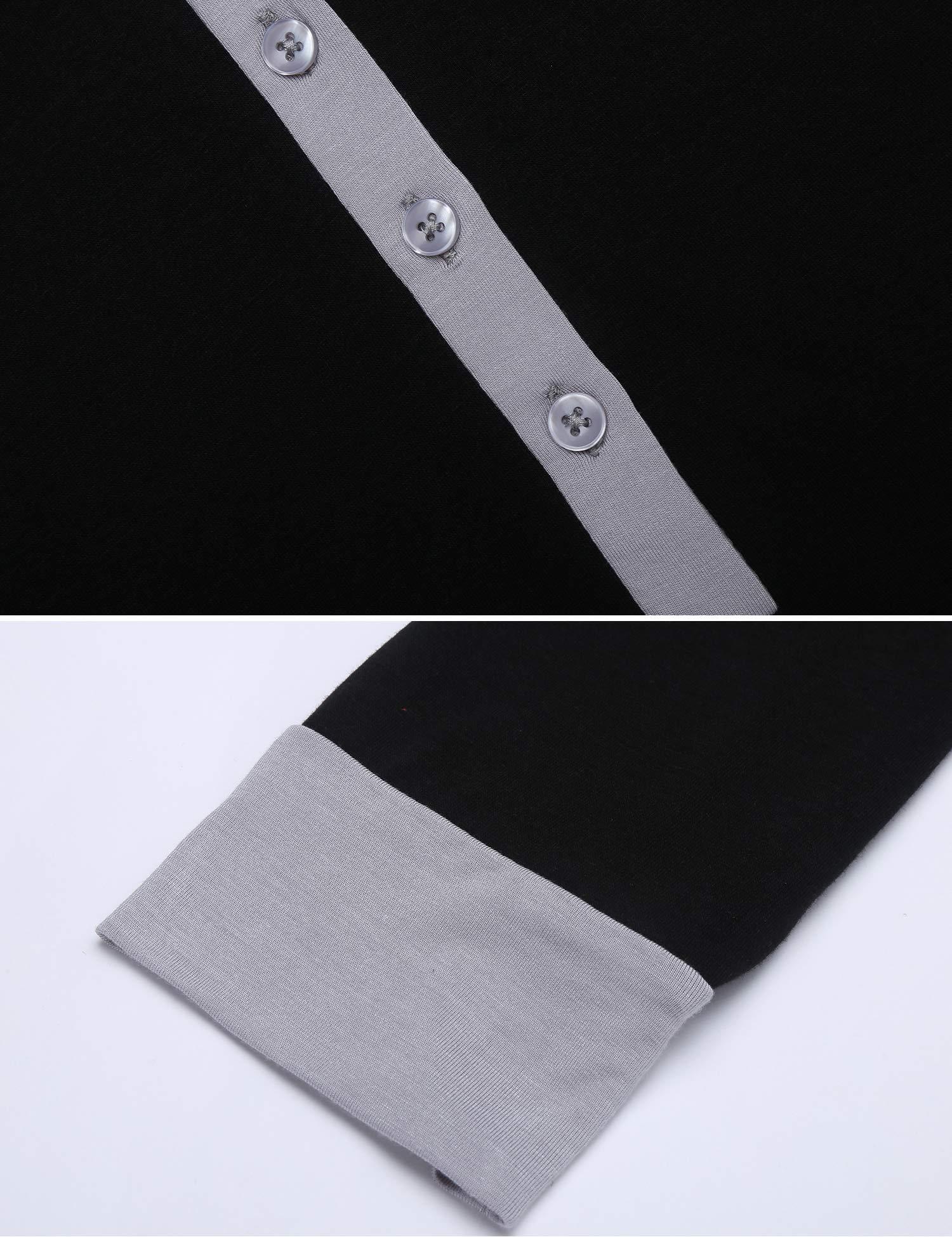 Ekouaer Women\'s Pajama Set Long Sleeve Sleepwear Long PJ Set Black