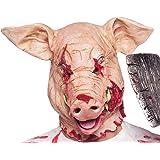 TK Group Timo Klingler Halloween máscara de Horror Momia para Hombres y Mujeres máscaras (máscara de Cerdo)