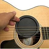 fieldlabo サウンドホールカバー ギター 弱音器 ミュート 消音 夜間練習 アコギ エレアコ フィードバック防止 (ホールカバー大)