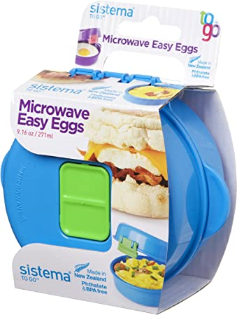 Sistema Easy Eggs to Go Microwave Egg Cooker, Random Colour