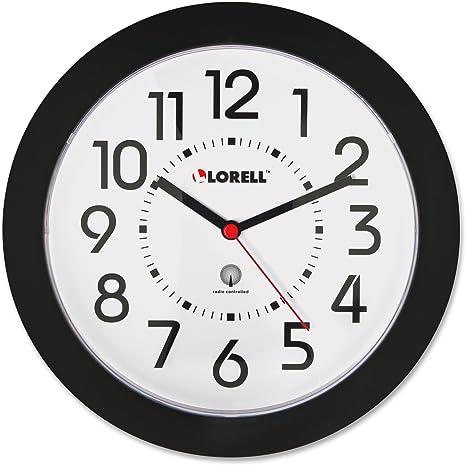 Amazon Com Lorell 60990 Wall Clock 9 In Arabic Numerals White Dial Black Frame Home Kitchen