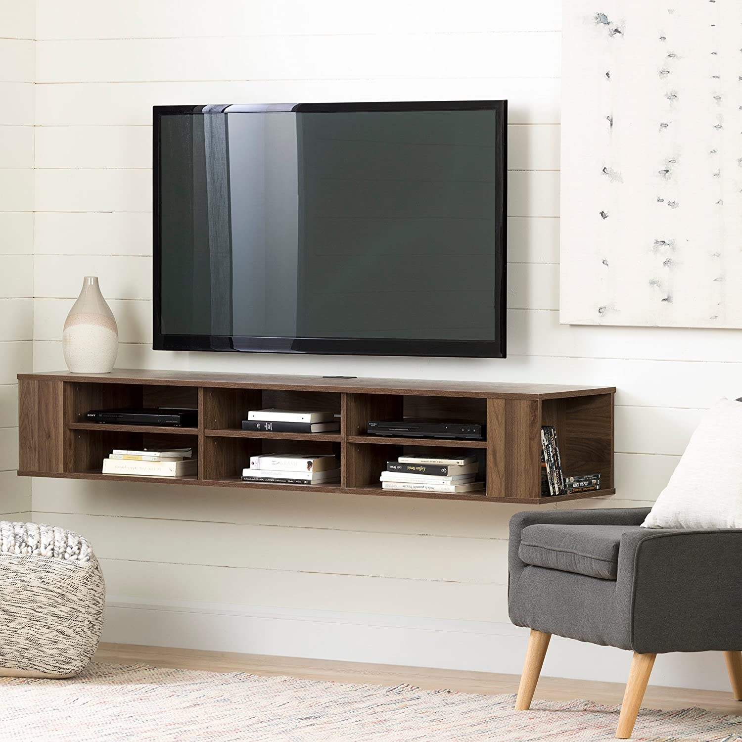 Amazoncom South Shore 11963 66 Wide Wall Mounted Media Console