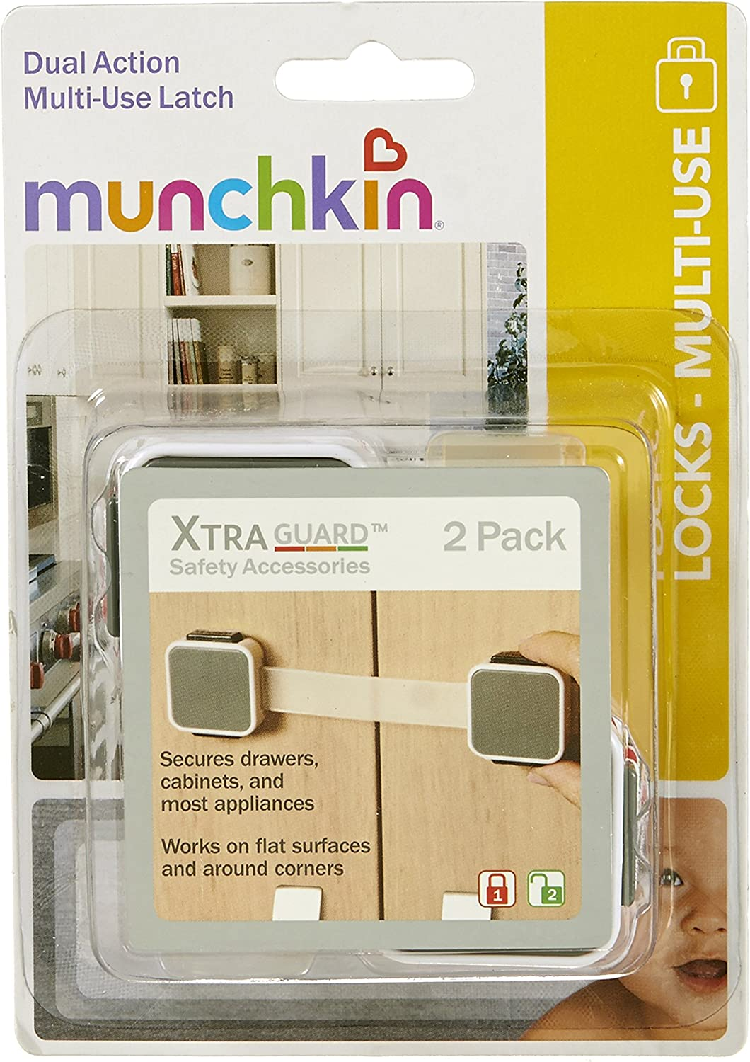 Munchkin Xtraguard Dual Action Multi Use Latches 12 Count