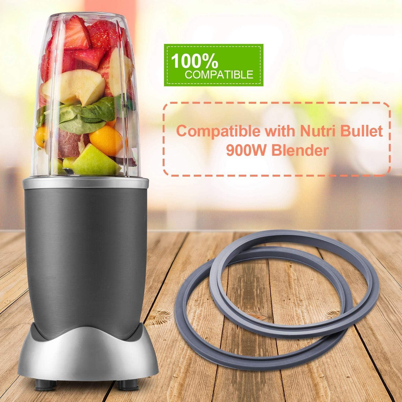 Juntas con Tapa Compatible con Nutri Bullet NB-101B 900W Licuadora ...