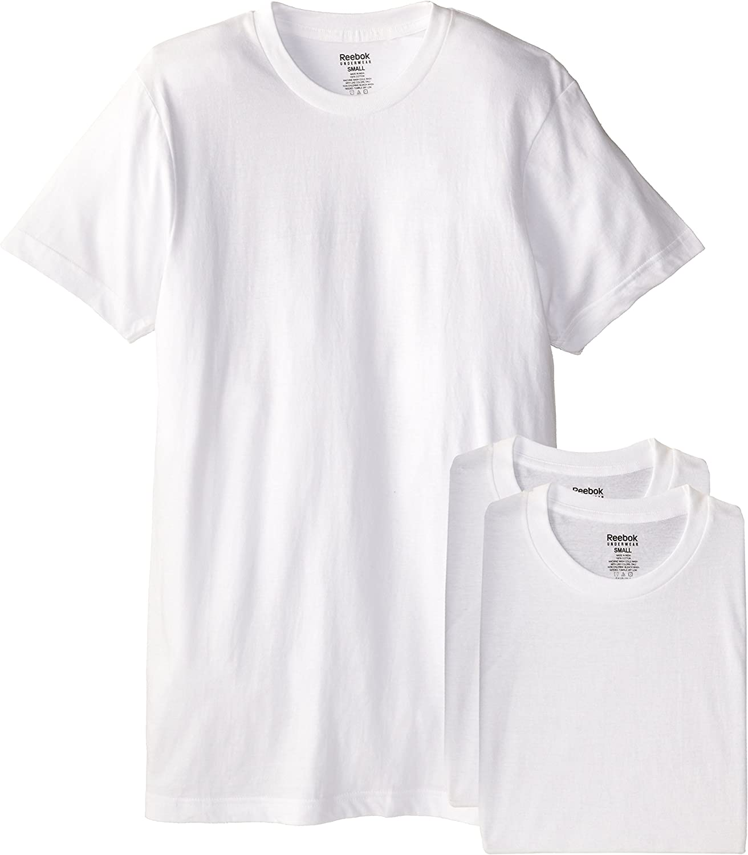 Reebok de Hombre 3 Pack algodón – Camiseta para Hombre, Color Blanco: Amazon.es: Ropa y accesorios