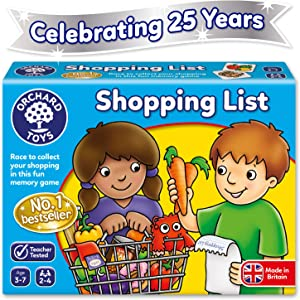 Orchard Toys Shopping List - Educational Memory Game - Age 3-7 - Perfect For Home Learning