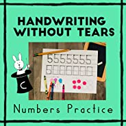Handwriting Without Tears Numbers Formation Practice - Number Writing Practice - Writing Numbers - Numbers Handwriting Pract