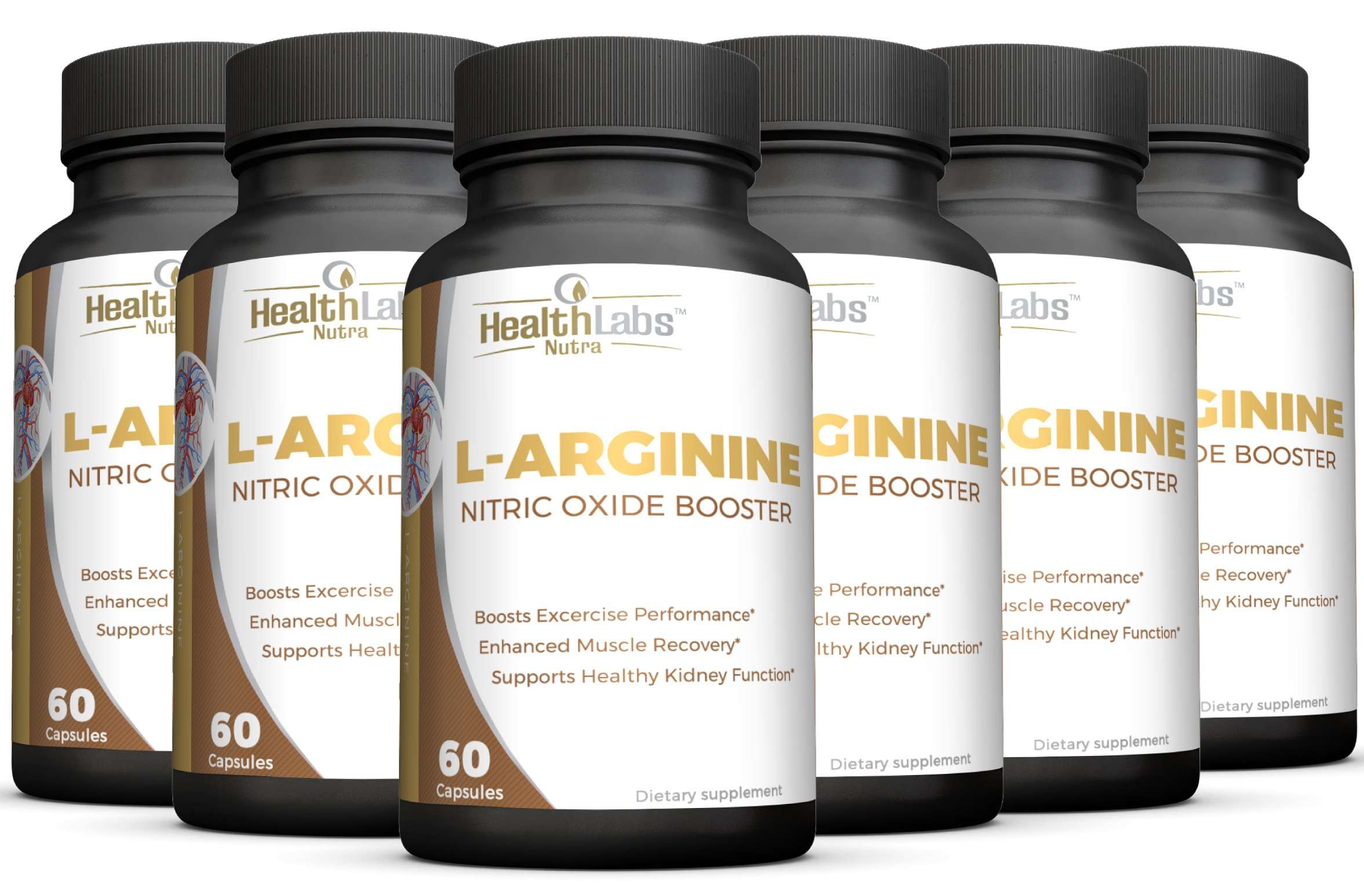 Max Strength L-Arginine -1200mg Nitric Oxide Pre-Workout Supplement with L-Citrulline for Muscle Growth, Endurance, Energy & Vascularity - 6-Month Supply