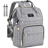 Diaper Bag Backpack, Mokaloo Large Baby Bag, Multi-functional Travel Back Pack, Anti-Water Maternity Nappy Bag Changing Bags