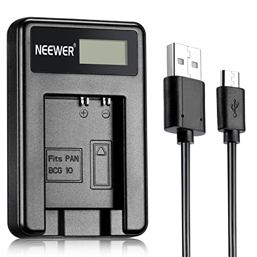 Neewer® NW-BCG10 USB Charger for Panasonic DMW-BCG10, DMW-BCG10E, DMW-BCG10PP Battery and Panasonic Lumix DMC-ZS7, DMC-ZS6, DMC-ZS10, DMC-ZS5, DMC-ZS3, DMC-ZS8, DMC-ZS1, DMC-ZR3, DMC-ZR1