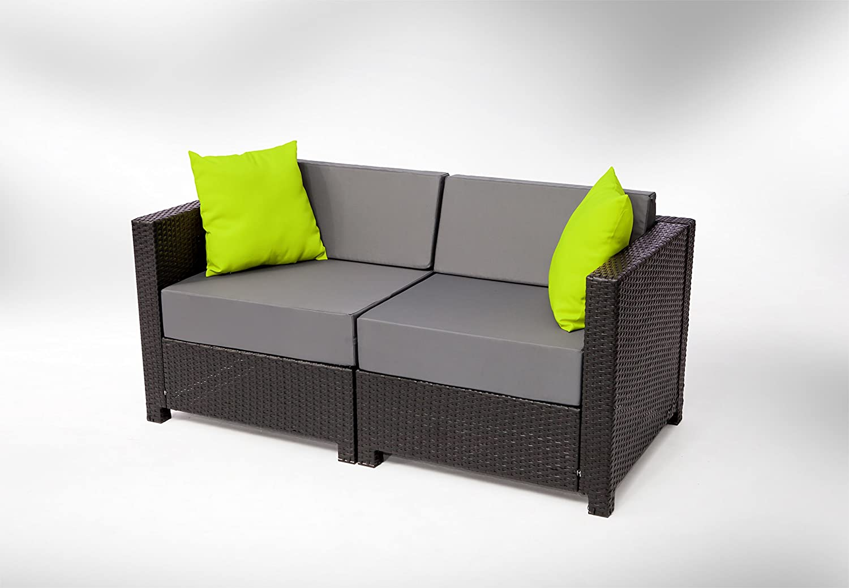 Amazon.com : MCombo 13 Piece Luxury Black Wicker Patio Sectional ...