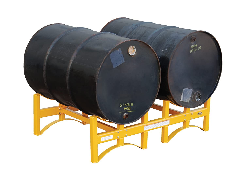 Vestil DRUM-RACK-2 55 gallon Stackable Drum Rack, Steel, 45-1/2 ...
