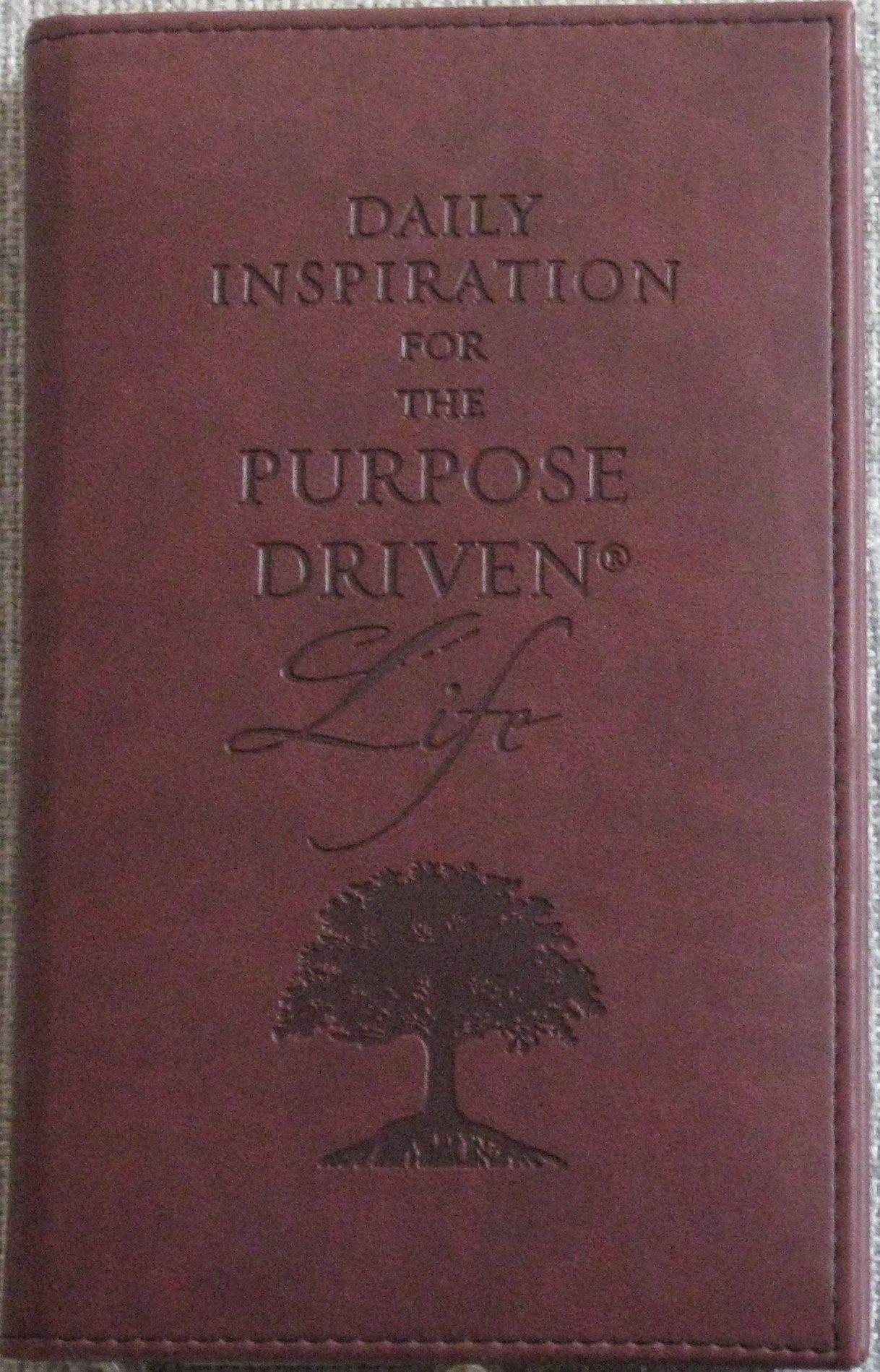purpose driven life reflection