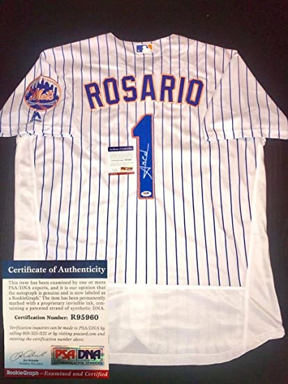 competitive price 510a7 6d0e3 Amed Rosario Autographed Jersey - Cert - PSA/DNA Certified ...