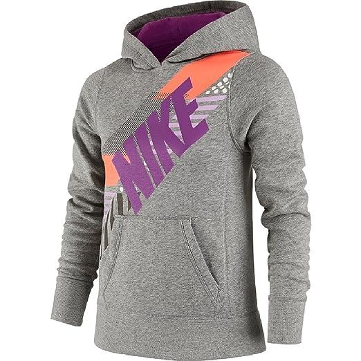 lowest price 8ec17 1d642 Amazon.com: Nike Girls' YA76 Fleece Graphic Hoodie Size XS ...