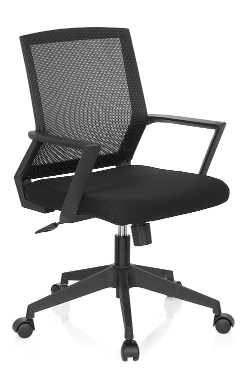 hjh OFFICE 732000 silla de oficina STARTEC BAI100 tejido de malla negro silla escritorio