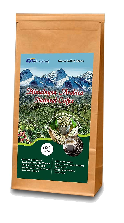 Himalayan Arabica Green Beans Coffee (456g |16 oz) - World's Best Organic Coffee | Product of Himalayas, Nepal