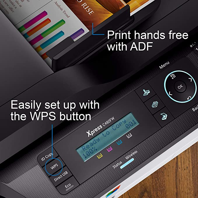 HP Samsung Xpress SL-C480FW Color Laser Multifunction ...