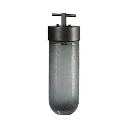 6d61c7536c55a Image Unavailable. Image not available for. Color  Mid Century Modern Gray  Bronze Art Glass Jar