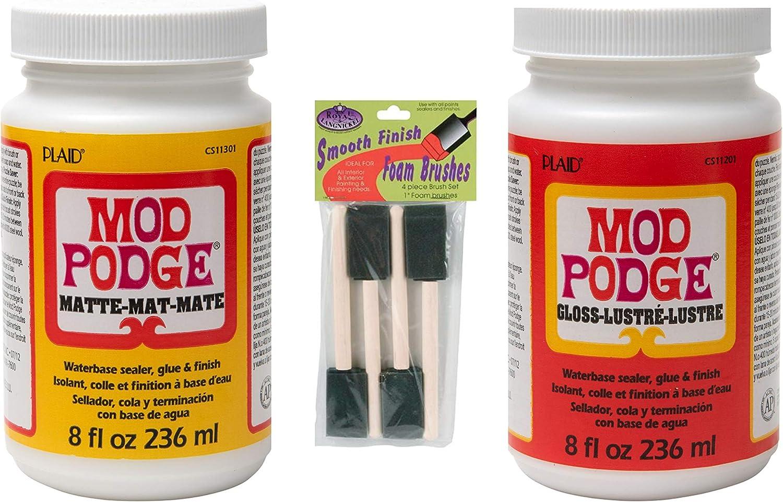 ModgePodge Gloss 8oz with Free Foam Brush