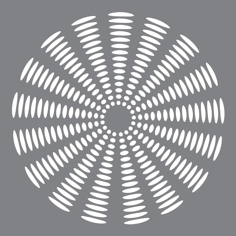 Andy Skinner Mixed Media Stencil x 8-inch-Sunburst